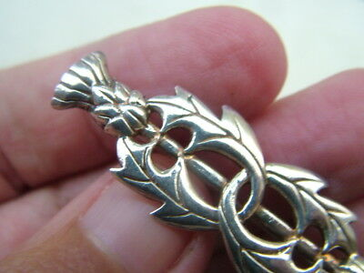 SILVER celtic thistle brooch