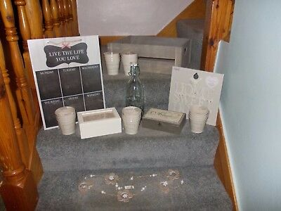 Shabby Chic Job Lot Home Decor Crate Boxes Milk Bottle New Resale Stall Stock