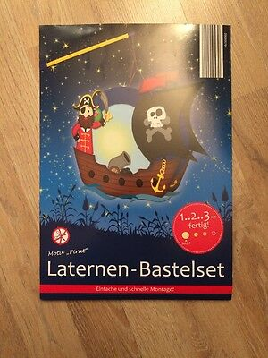 Laternen Bastelset - Pirat - Piratenschiff - basteln - Lampion - Laterne - Set