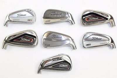 Lot of 7 Titleist Golf Club Fitting 7 Irons Heads Only CB MB T-MB AP1 AP2 RH LH