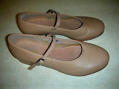 Bloch Women's Tap On Shoes ~ TAN ~ Mary Janes ~ Size 8 1/2