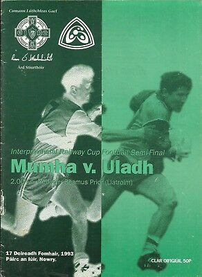 17.10.1993 MUNSTER v ULSTER, Cup Semi-Final, Newry, Exc!