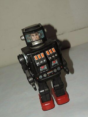 1950's Vintage Tin Toy Robot Space Man Made In Japan As-Is Battery Operated