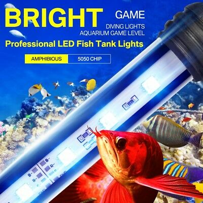 Aquarium Fish Tank LED SMD RGB Light Bar Lamp Lighting Submersible 18-118cm
