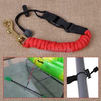 Kayak Canoeing Paddle Leash Clip Safety Fishing Rod Net Tether Bungee Accessory