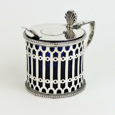 ELKINGTON & Co MUSTARD POT c1870 Silver Plated GEORGIAN DESIGN