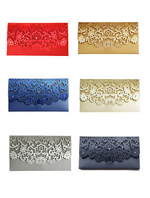 Laser Cut Gift Money Vouchers Tokens Wallet Cards Envelope for Wedding Birthday