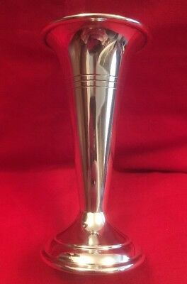 Vintage English Silver Plated Art Deco Spill Vase c.1930's