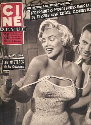 MARILYN MONROE CINE REVUE MAGAZINE 1955 cover SEVEN YEAR ITCH