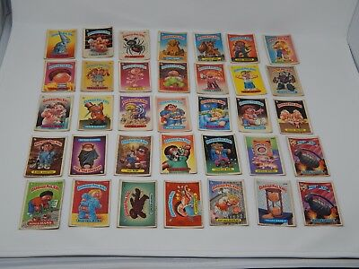 Lot of 105 Garbage Pail Kids vintage cards with wear