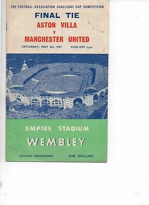 Aston Villa v Manchester United 1956/57 FA Cup Final