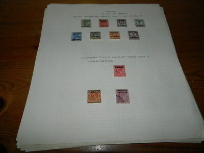 Morocco Agencies Stamps Collection Written Up On Leaves