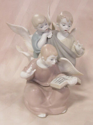 Lladro Angelic Voices Brand New In Box #9188 Religion Three Angels Save$$ F/sh