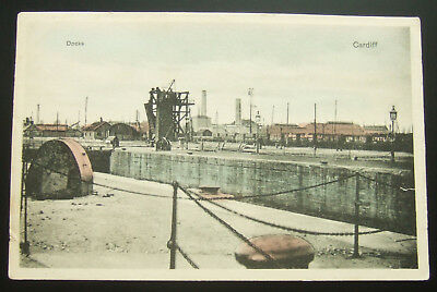 Postcard : Wales, Docks, Cardiff - Very Old Card
