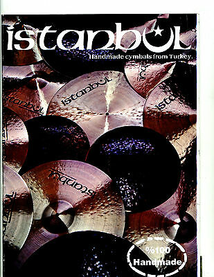 Istanbul Handmade Cymbals from Turkey Full Color Catalog Brochure Vintage 1980's