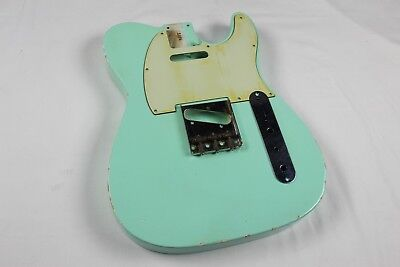 MJT Official Custom Vintage Aged Nitro Guitar Body By Mark Jenny VTT Surf Green