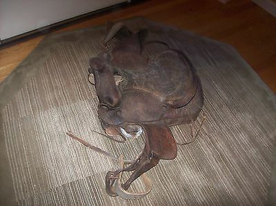 Antique Leather Horse Saddle