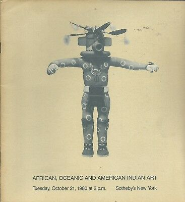 SOTHEBY'S AFRICAN OCEANIC AMERICAN INDIAN ART Kachina Dolls Catalog 1980