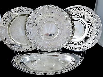 ESTATE LOT SILVERPLATE Platters & Trays P.W.ELLIS, TORONTO SILVER Co.