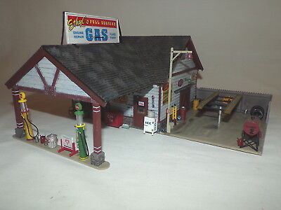 O Scale Gas Station Train Layout Building Accessory Acc
