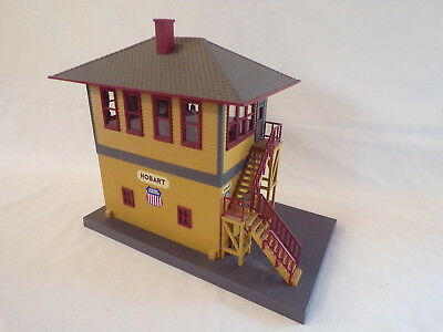 Mth Up Hobart Switch Tower Train Layout Building Acc