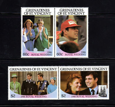 St. Vincent Grenadines #537-540  1986  Royal Wedding  Mint  Vf Nh  O.g