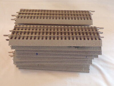 "18 Lionel Fastrack 10"" Straight Track Train Layout Accessory Acc Lot B"