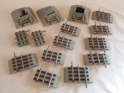 15 Misc Short Lionel Fastrack Train Track Layout Accessory Acc
