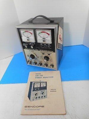Sencore SG 165 AM/FM Stereo Analyzer w/Service Manual ( From TV Repair Shop )