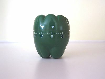 Vtg Kitchen Egg Timer Green Bell Pepper Works