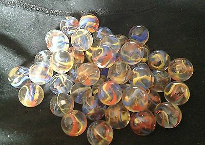 10 x 16mm Fiesta HOM Glass Marbles Collectors or traditional game solitair