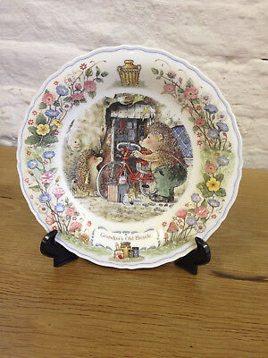 "Wedgwood Foxwood Tales Collectors Plate ""Grandpa's Old Bicycle"""