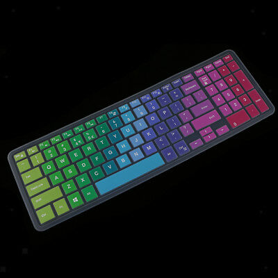Thin Silicone Keyboard Skin Cover for Dell 15CR 15inch Laptop PC Colorful