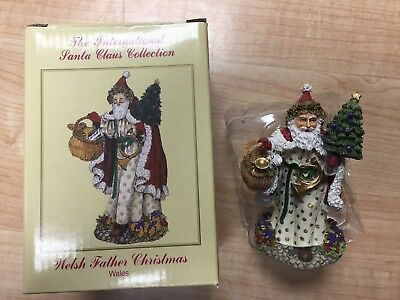 The International Santa Claus Collection welsh father christmas Wales w/ box