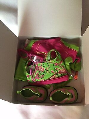 Preowned American Girl 7 Piece Jess Kayak Outfit With Box
