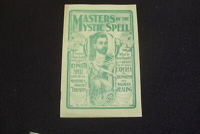 1900 Manual of Magnetic Healing & Hypnotism Masters of Mystic Spell
