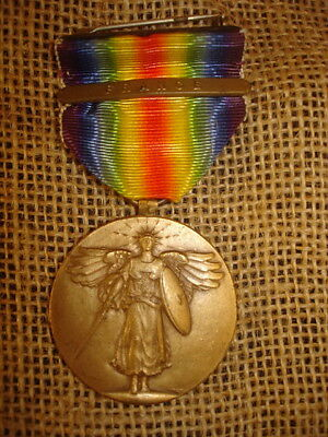 Wwi U.s. Victory Medal With France Clasp