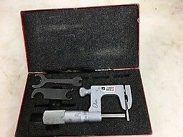 STARRETT 220P MUL-T-ANVIL MICROMETER, In Case, Wrench, FREE SHIPPING NO RESERVE!
