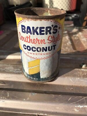 Vintage Baker's Southern Style Coconut Tin - Advertising Cooking