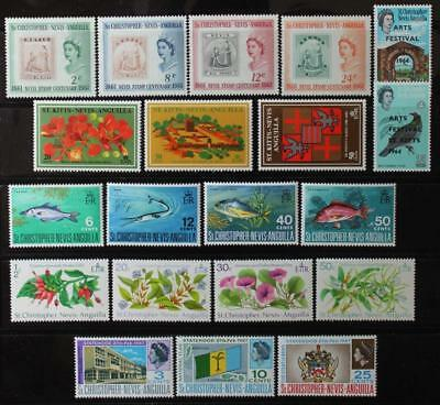 St. Christopher Nevis Anguilla Collection, MNH OG, Complete Sets, Never Hinged
