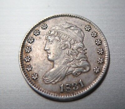 US 1831 Capped Bust Half Dime  - Raw Coin - Nice Grade