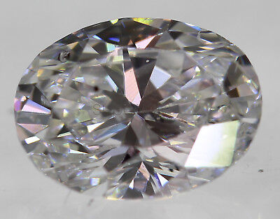 Certified 0.53 Carat E VS2 Oval Enhanced Natural Loose Diamond 4.63x5.97mm 2VG