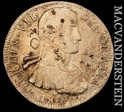 MEXICO (COLONIAL): 1809-Mo,TH EIGHT REALES- SALTWATER DAMAGE, CHOP MARKS!!  #W84