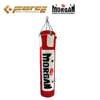 MORGAN 6 ft/180cm Muay Thai/Boxing UNFILLED MMA UFC Heavy Punch Bag Red