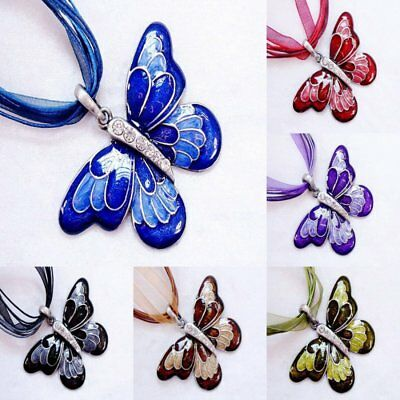 Fashion Butterfly Animal Crystal Pendant Necklace Women Party Jewelry Gift New