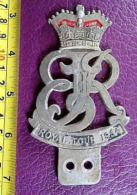 Vintage Car Bumper Badge Royal Tour 1954  Rare As Very Hard To Find