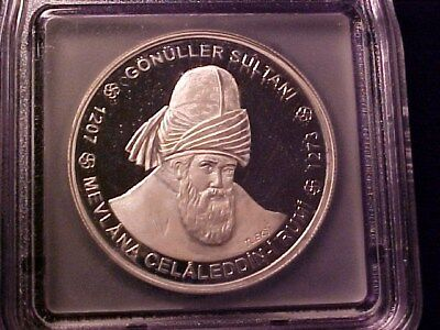 Turkey 10 Million Lira Silver Proof Crown Pf-66 Dcam Icg Gonuller Sultani