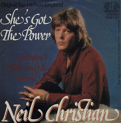 "NEIL CHRISTIAN: She's Got The Power (´75 / scarce orig. German 7"" - GLAM)"