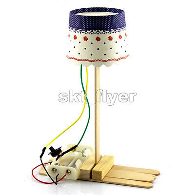 Small LED  Table Lamp Model Hobby Learning Kids Handwork DIY Kits