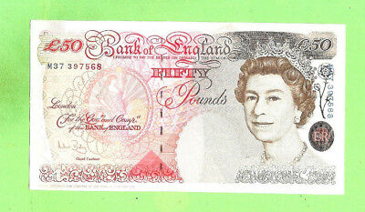 #d298.  Great Britain  Fifty  Pound Banknote, 1994 Type Issue, M37 397568